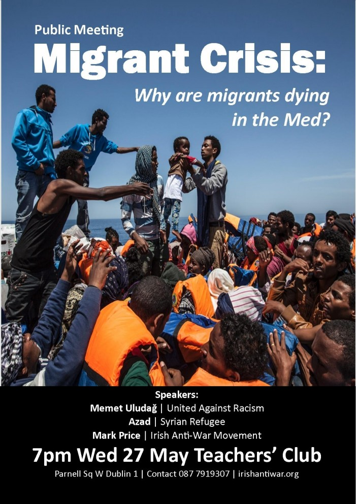 Public Meeting: EU and the Migrant Crisis. Why are migrants dying in the Mediterranean?