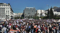 Mass protests as general strike hits Greece