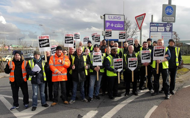 LUAS workers fight on; stop Transdev scabbing