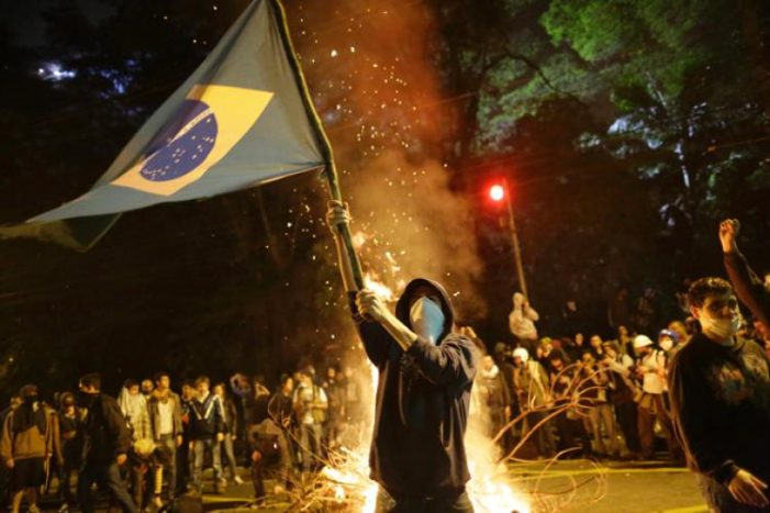 Protests in Brazil against new right wing government