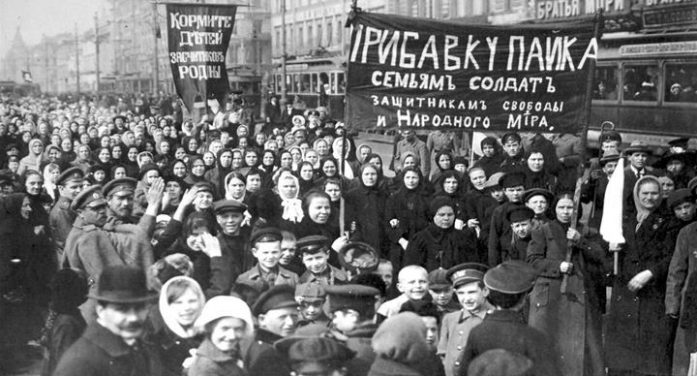 When workers felled the Tsar